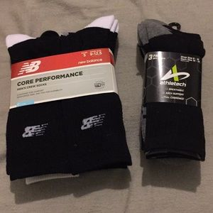 8 pairs of Athletic crew socks - by NB & Athletech